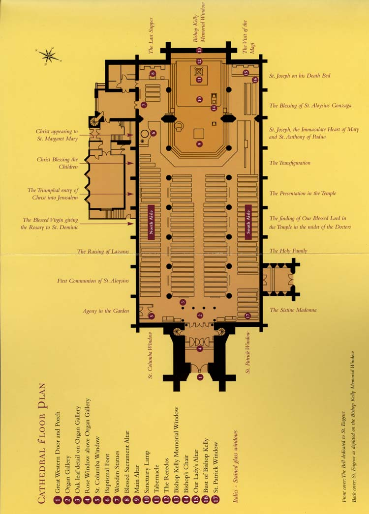 St Eugenes Cathedral, Floor Plan
